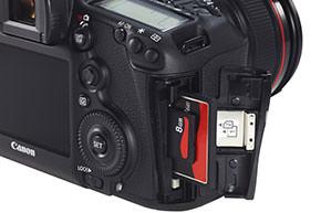 Canon 5D MK3 card slots