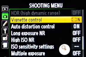 Shooting-menu