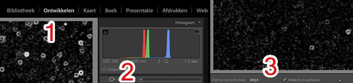 Stof op sensor zichtbaar maken in Lightroom