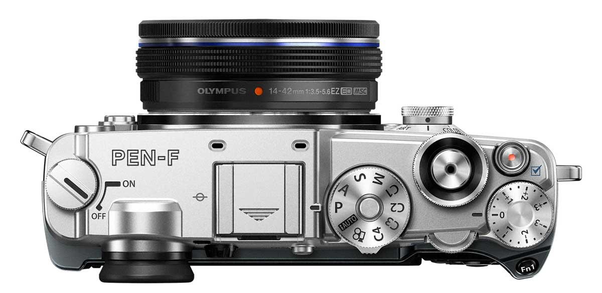 PEN PEN F EZ M1442 EZ silver black ProductTop 001