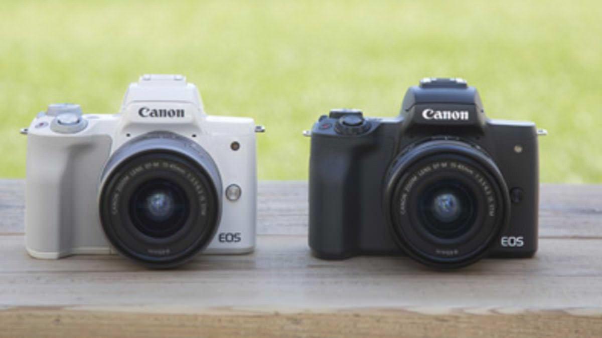 Canon M50: compact, strak vormgegeven