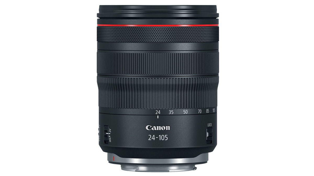 Product shot of the Canon-rf-24-105mm-f-4l-is-usm