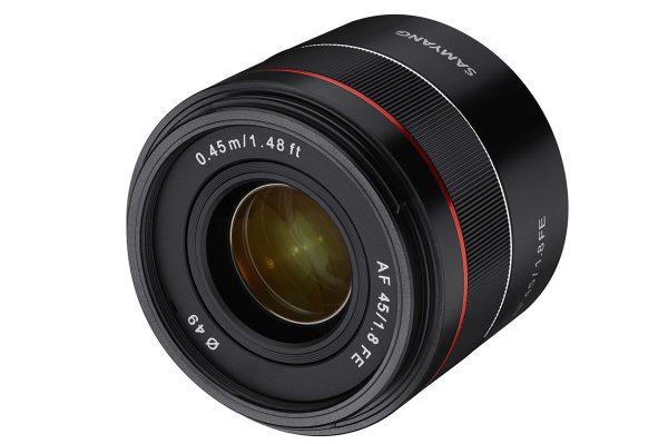Productshot of Samyang AF 45mm f/1.8 FE
