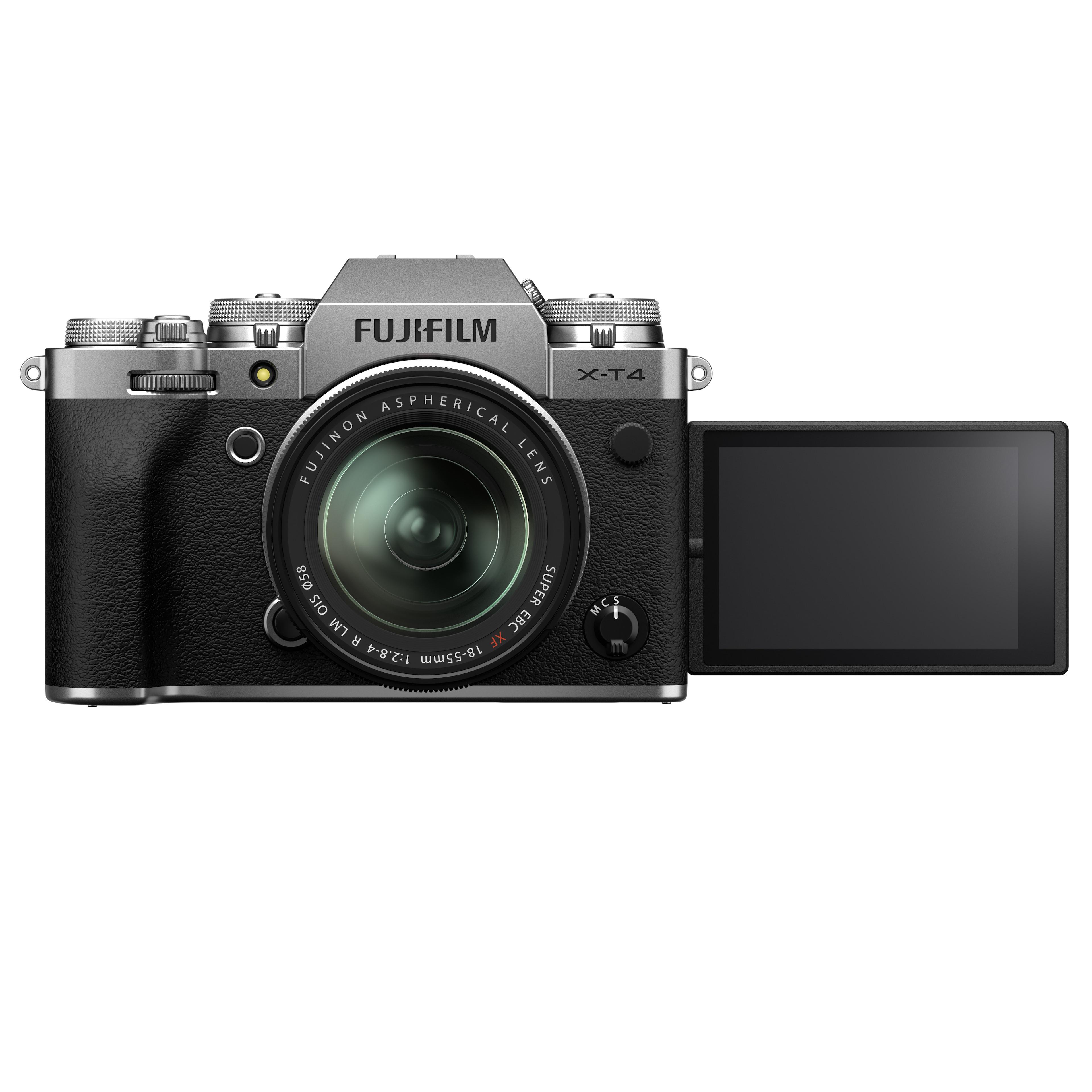 Fujifilm X-T4 met uitgeklapt scherm
